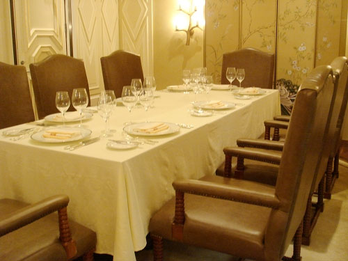 Astor Hotel, Tianjin - Crystal Saddle dining chairs